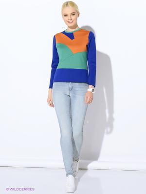 Кофточка Colambetta. Цвет: синий, темно-зеленый, оранжевый