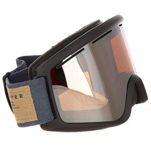 Маска для сноуборда  Cleaver Sin Charcoal/Persimmon Chrome Von Zipper. Цвет: черный