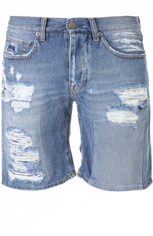 Джинсовые шорты 2 Men Jeans. Цвет: синий