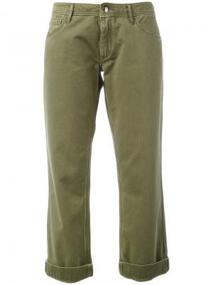 Прямые брюки-чинос The Seafarer. Цвет: зелёный