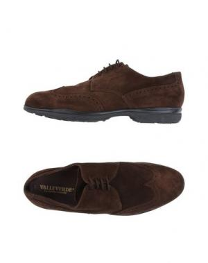 Обувь на шнурках VALLEVERDE. Цвет: темно-коричневый