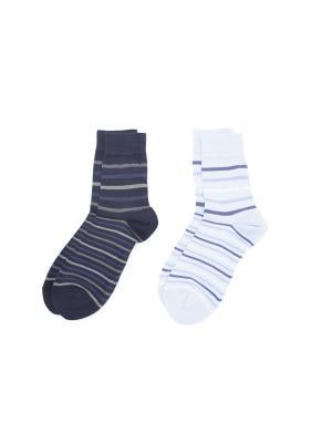 Носки, 2 пары Cascatto. Цвет: синий, голубой