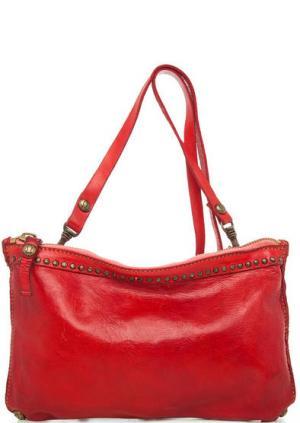 Красная кожаная сумка через плечо Campomaggi. Цвет: красный