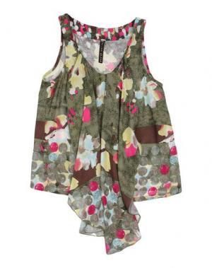 Блузка MANILA GRACE. Цвет: зеленый-милитари
