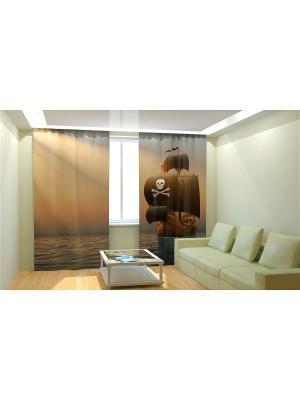Фотошторы Олимп Текстиль. Цвет: бронзовый, светло-коричневый, коралловый, оранжевый, зеленый