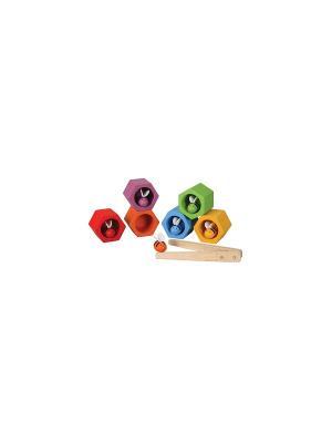 Игра Пчелки PLAN TOYS. Цвет: белый, желтый, зеленый, красный