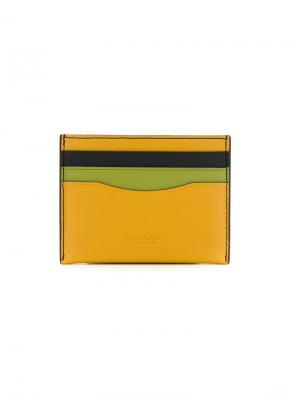 Colour block cardholder Coach. Цвет: жёлтый и оранжевый
