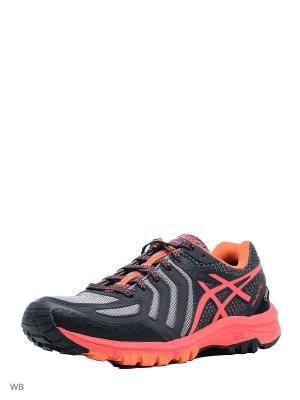 Спортивная обувь GEL-FujiAttack 5 G-TX ASICS. Цвет: розовый, серый, темно-синий