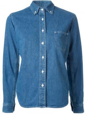 Джинсовая рубашка Fabiane Roux. Цвет: синий