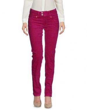 Повседневные брюки AB/SOUL. Цвет: фуксия
