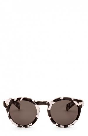 Очки солнцезащитные Illesteva. Цвет: черно-белый