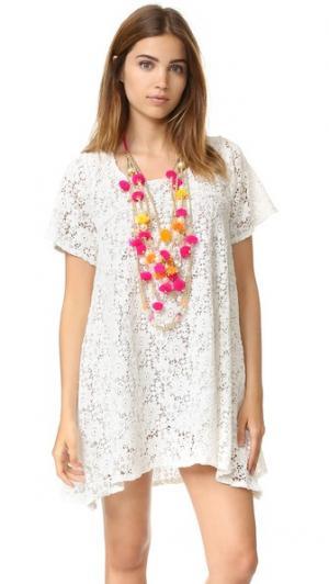 Платье Andrea со съемным колье SUNDRESS. Цвет: белый
