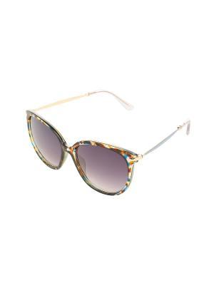 Солнцезащитные очки Gusachi. Цвет: коричневый, желтый, синий