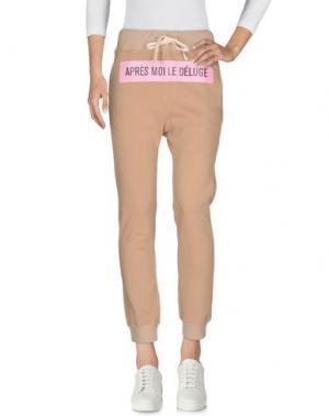 Повседневные брюки THINGS ON EARTH. Цвет: песочный
