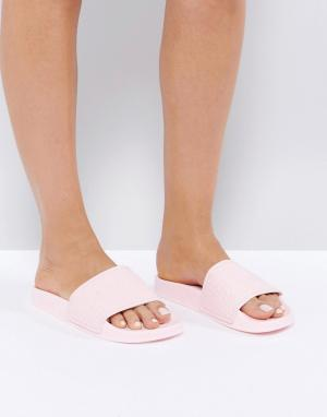 Slydes Розовые сандалии с логотипом Cali. Цвет: розовый