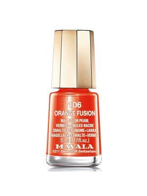 Лак для ногтей тон 106 Orange Fusion Mavala. Цвет: оранжевый