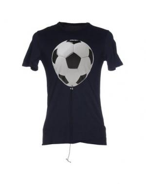 Футболка MALPH. Цвет: темно-синий