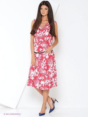 Платье Malvin. Цвет: красный, белый