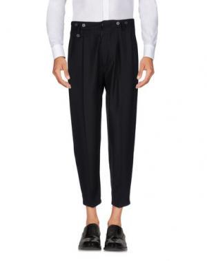 Повседневные брюки JOHN SHEEP. Цвет: стальной серый