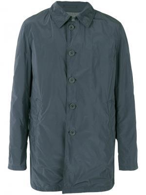 Buttoned midi coat Herno. Цвет: серый