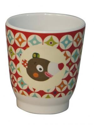 Чашечка Мишка Ebulobo. Цвет: бордовый, оранжевый, кремовый