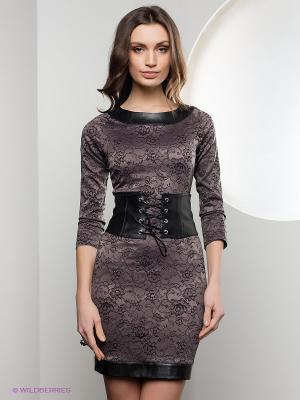 Платье SUGARLIFE. Цвет: темно-серый, сиреневый