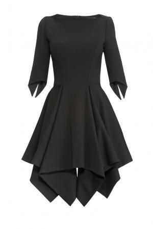 Платье из вискозы с шерстью SF-150513 Plein Sud. Цвет: черный