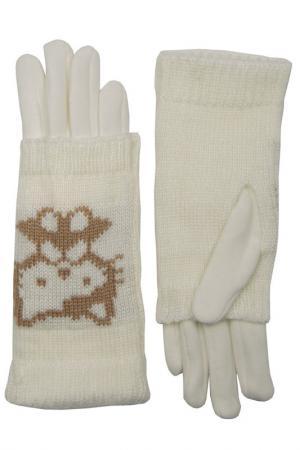 Перчатки Stella. Цвет: белый