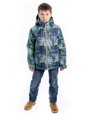 Куртка жека Аксарт. Цвет: синий, голубой