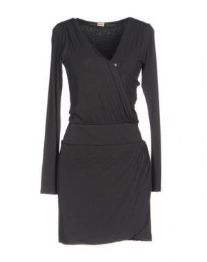 Короткое платье NOLITA. Цвет: темно-коричневый