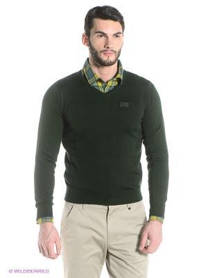 Пуловер Think Pink. Цвет: зеленый