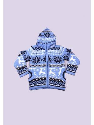 Толстовка DAMY-M. Цвет: голубой
