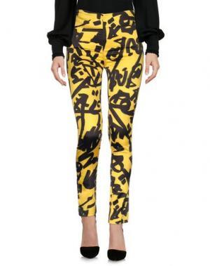 Повседневные брюки VIRGINIA BIZZI. Цвет: желтый