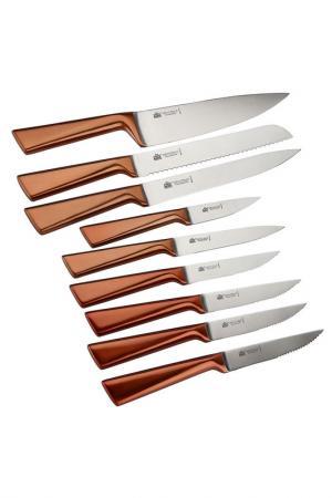 Набор ножей 10 пр. STAHLBERG. Цвет: коричневый