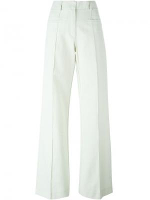 Расклешенные брюки Erika Cavallini. Цвет: зелёный