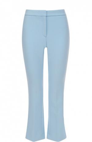 Укороченные расклешенные брюки со стрелками Theory. Цвет: голубой