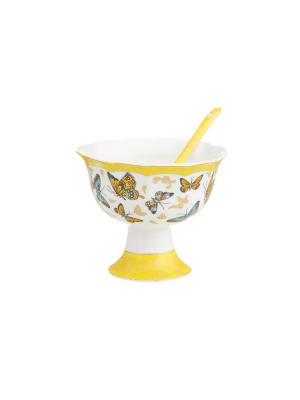 Креманка Бабочки Elan Gallery. Цвет: белый,желтый