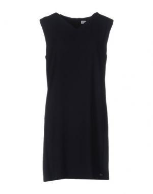 Короткое платье OTTOD'AME. Цвет: темно-синий