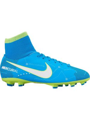 Бутсы JR MERCURIAL VCTRY 6 DF NJR FG Nike. Цвет: синий, белый