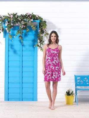 Домашнее платье BlackSpade. Цвет: розовый