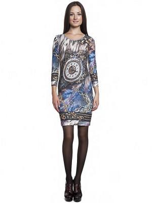 Платье FRENCH HINT. Цвет: серый, розовый, синий, зеленый
