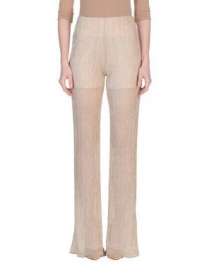 Повседневные брюки CAMILLA Milano. Цвет: золотистый