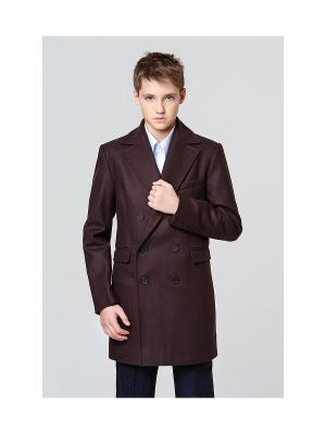 Пальто классическое MORU. Цвет: индиго