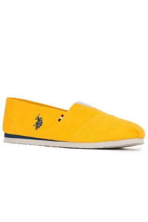 Эспадрильи U.S. Polo Assn.. Цвет: vr044 светло-желтый