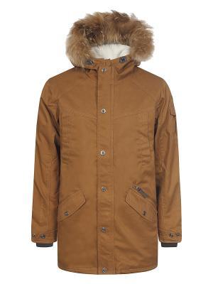 Пальто Rukka. Цвет: коричневый