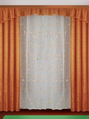 Комплект штор ZLATA KORUNKA. Цвет: терракотовый