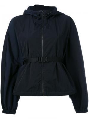 Куртка-плащ с поясом на талии Ahirain. Цвет: синий