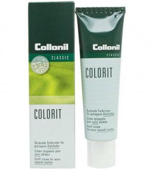 Крем-восстановитель цвета для изделий из гладкой кожи Collonil. Цвет: белый