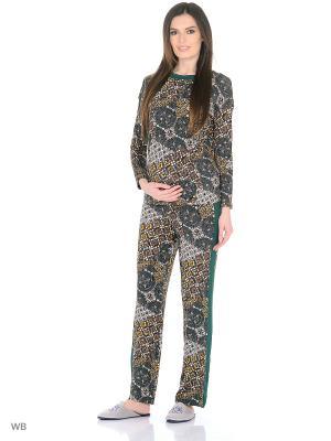 Домашний костюм MammySize. Цвет: серо-зеленый, серо-коричневый, темно-серый