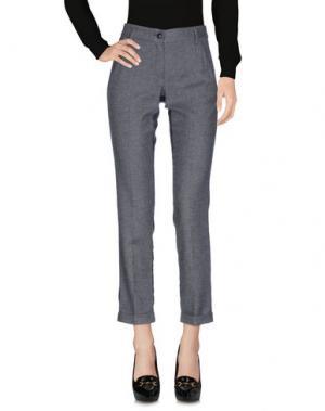 Повседневные брюки BREBIS NOIR. Цвет: стальной серый